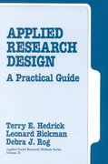Applied Research Design 1st edition 9780803932340 0803932340