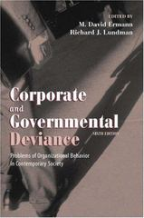 Corporate and Governmental Deviance 6th Edition 9780195135299 0195135296