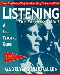 Listening: The Forgotten Skill 2nd Edition 9780471015871 0471015873