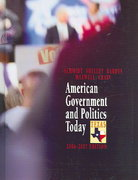American Government and Politics Today - Texas Edition, 2006-2007 12th edition 9780534580810 0534580815