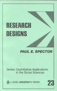 Research Designs 1st Edition 9780803917095 0803917090