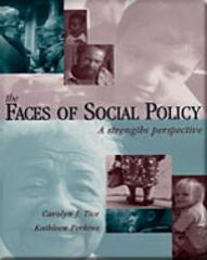 Faces of Social Policy 1st Edition 9780534345020 0534345026