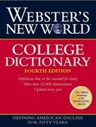 Webster's New World College Dictionary 4th Edition 9780028631189 0028631188
