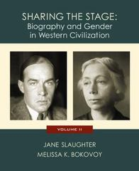 Sharing the Stage: Biography and Gender in Western Civilization (Volume II) 1st edition 9780618011780 0618011781
