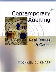 Contemporary Auditing 4th edition 9780324048612 0324048610