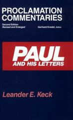Paul and His Letters 2nd edition 9780800623401 0800623401