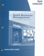 Student Learning Guide for Longenecker/Moore/Petty/Palich's Small Business Management: An Entrepreneurial Emphasis, 13th 13th edition 9780324226133 0324226136