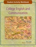 Student Activity Workbook to accompany College English and Communication 9th edition 9780073106526 0073106526