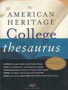 The American Heritage College Thesaurus 1st Edition 9780618402199 0618402195