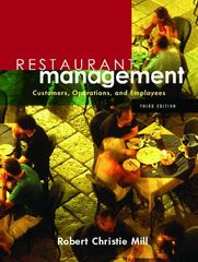 Restaurant Management 3rd edition 9780131136908 0131136909