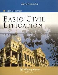 Basic Civil Litigation 3rd edition 9780735558465 0735558469