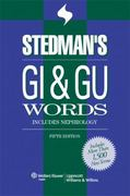Stedman's GI & GU Words 5th edition 9780781776134 0781776139