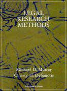 Legal Research Methods 2nd edition 9781599413969 1599413965