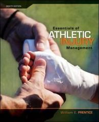 Essentials of Athletic Injury Management 8th edition 9780073376578 0073376574
