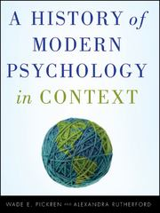 A History of Modern Psychology in Context 1st Edition 9780470276099 0470276096