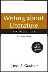 Writing about Literature with 2009 MLA Update 2nd edition 9780312607579 0312607571