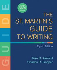 The St. Martin's Guide to Writing with 2009 MLA Update 8th edition 9780312603540 0312603541