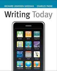 Writing Today 1st edition 9780205617449 0205617441