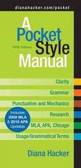 A Pocket Style Manual 5e with 2009 MLA 5th edition 9780312593247 0312593244