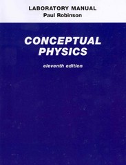 Laboratory Manual for Conceptual Physics 11th edition 9780321662606 0321662601