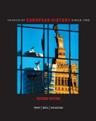 Sources of European History 2nd edition 9781111789794 1111789797