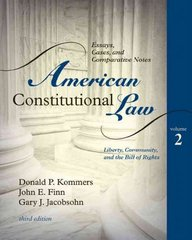 American Constitutional Law 3rd edition 9780742563681 0742563685