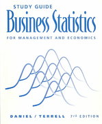 Study Guide for Daniel/Terrell's Business Statistics for Management and Economics, 7th 7th edition 9780395718025 0395718023