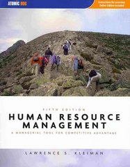 Human Resource Management 5th edition 9781426649189 1426649185
