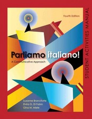 Activities Manual for Parliamo italiano 4th Edition 9780470526804 0470526807