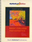 Basic College Mathematics, The MyMathLab Edition Package 8th edition 9780321641212 0321641213