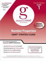 Number Properties GMAT Preparation Guide, 4th Edition 4th edition 9780982423844 0982423845