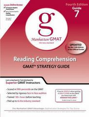 Reading Comprehension GMAT Preparation Guide, 4th Edition 4th edition 9780982423851 0982423853