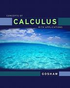 Concepts of Calculus With Applicationsd Edition Value Package (includes MyMathLab/MyStatLab Student Access) 1st Edition 9780321584274 0321584279