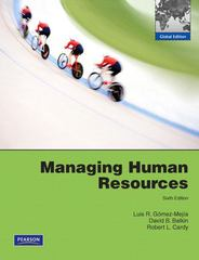 Managing Human Resources 6th edition 9780135073018 0135073014