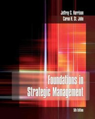 Foundations in Strategic Management 5th edition 9781439080467 1439080461
