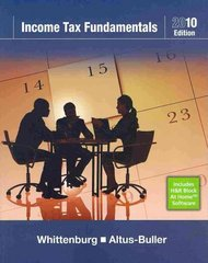 Income Tax Fundamentals 2010 (with TaxCut Tax CD-ROM) 28th edition 9781439044094 1439044090