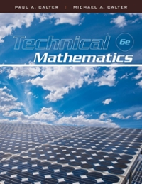 Technical Mathematics 6th Edition 9780470534922 0470534923