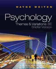 Psychology 8th Edition 9780495811336 0495811335