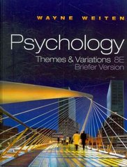 Psychology 8th edition 9780495813101 0495813109