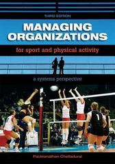 Managing Organizations for Sport and Physical Activity 3rd edition 9781890871932 1890871931