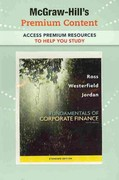 Premium Content Card to accompany Fundamentals of Corporate Finance 9th edition 9780077246143 0077246144
