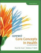 Connect Personal Health Access Card for Core Concepts in Health, Brief 11th edition 9780077314125 0077314123
