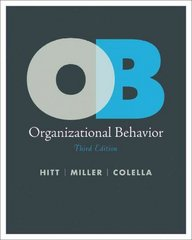 Organizational Behavior 3rd Edition 9781118136980 1118136985