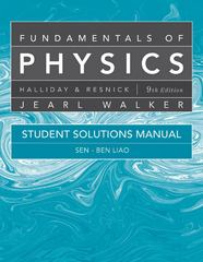 Student Solutions Manual for Fundamentals of Physics 9th edition 9780470551813 047055181X