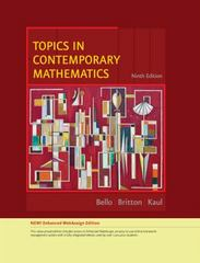 Topics in Contemporary Mathematics, Enhanced Edition 9th edition 9780538737791 0538737794