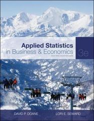 Applied Statistics in Business and Economics 3rd edition 9780073373690 0073373699