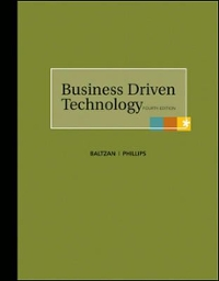 Business Driven Technology 4th edition 9780073376790 0073376795