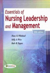 Essentials of Nursing Leadership and Management 5th Edition 9780803622081 0803622082