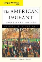 Cengage Advantage Books: American Pageant, Volume 2: Since 1865 14th edition 9780495903482 0495903485
