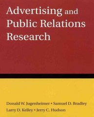 Advertising and Public Relations Research 1st Edition 9780765624185 0765624184